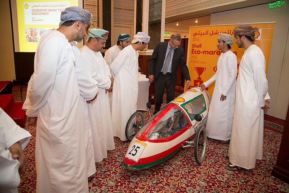 Shell Oman Eco marathon teams celebration