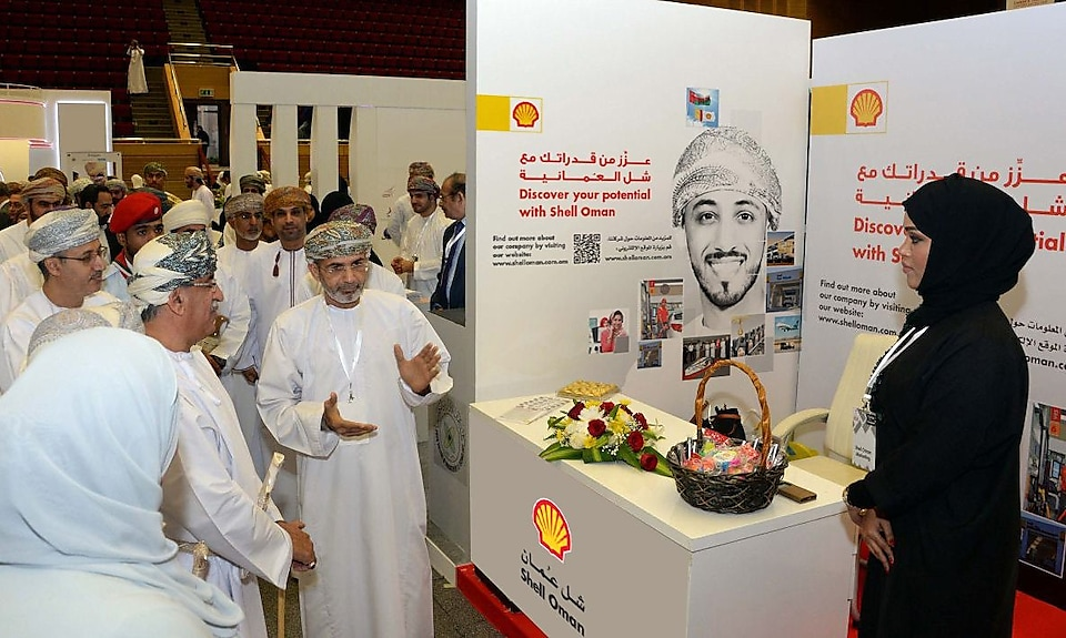 Minister visiting Shell Oman stall