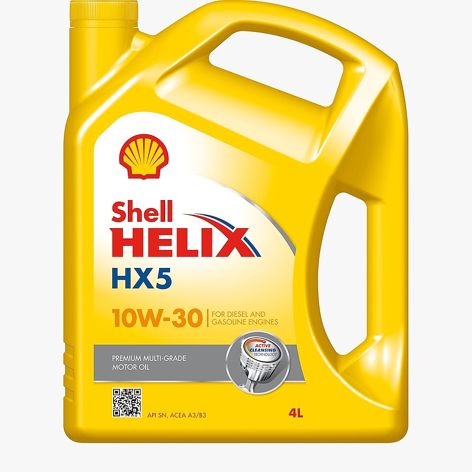 Packshot of Shell Helix HX5 10W-30